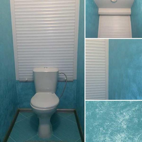Фото дизайн туалета с обоями