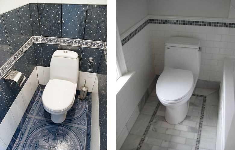 Дизайн маленького туалета в цветах