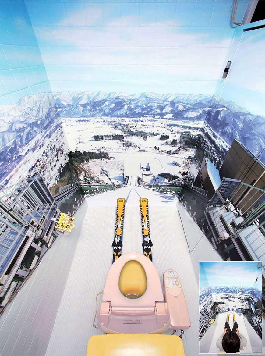 Туалет необычный дизайн