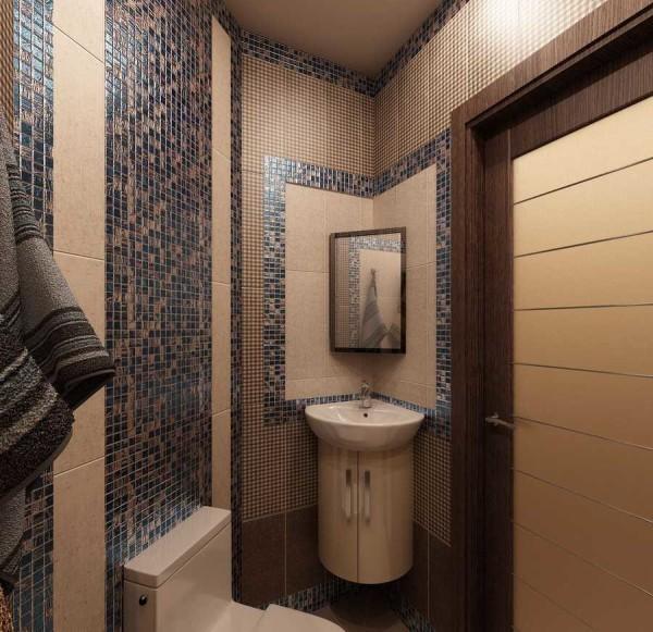 Сочетание мозаики и керамической плитки
