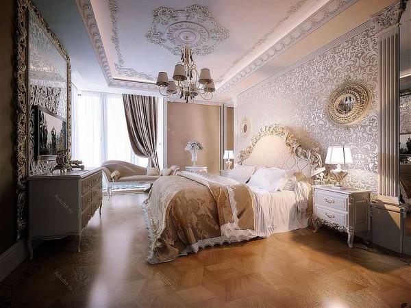 Вариант спальни в классическом стиле