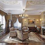 Пример оформления гостиной в классическом стиле
