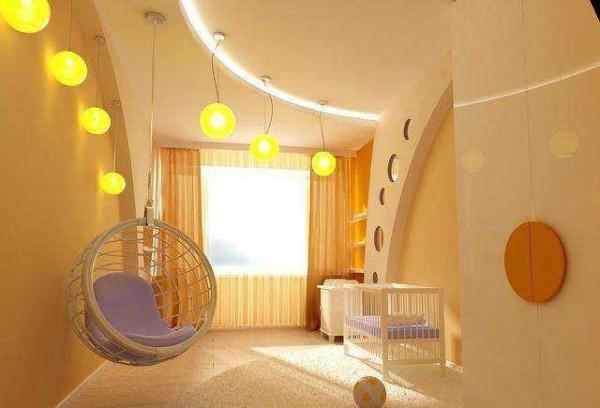 Необычный дизайн комнаты для новорожденного