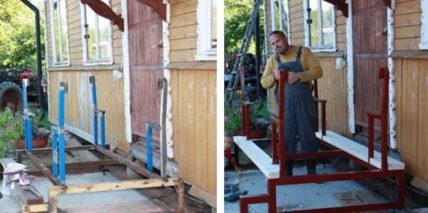Привариваем, грунтуем и красим основу для скамеек
