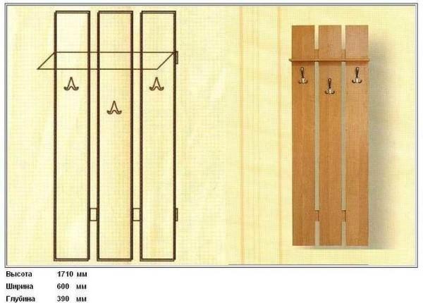 Простой вариант вешалки для саомостоятельного изготовления