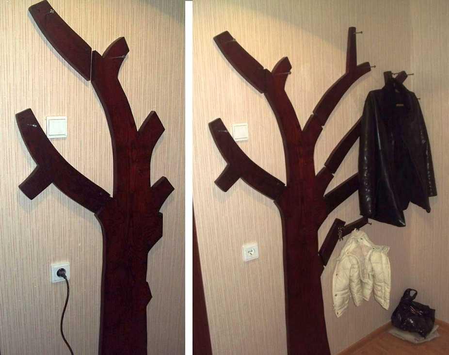 Как сделать деревья вешалки своими руками 160