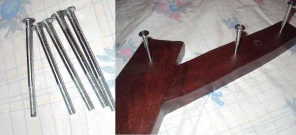 Крючки для самодельной вешалки
