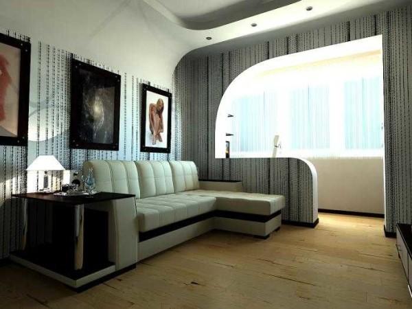 Асимметрия подчеркивается еще и мебелью
