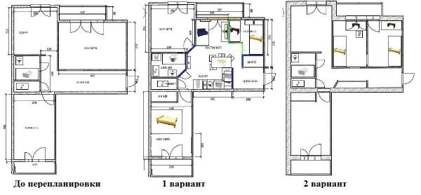 Не самая удобная квартира для переделки