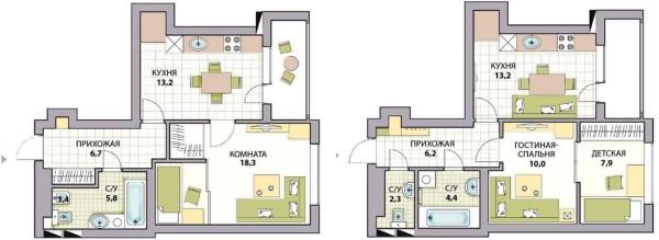 Выделение детской комнаты в однокомнатной квартире
