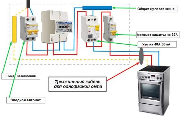 Схема подключения электролпиты