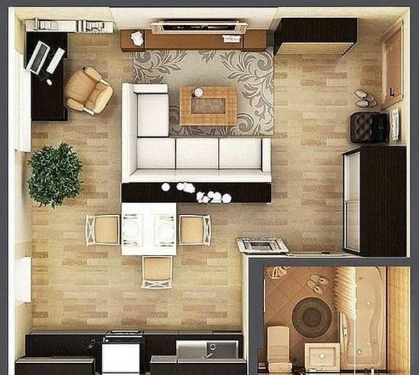 Пример маленькой квартиры студии