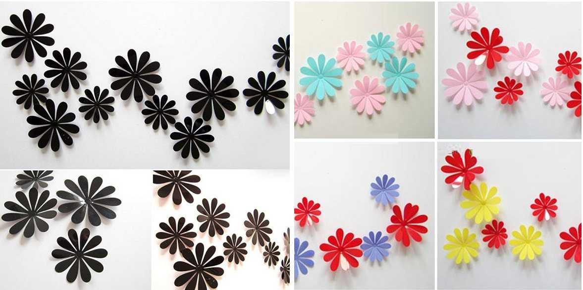 Простые цветы из бумаги на стену своими руками