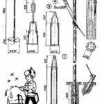 Конструкция ударно-канатной установки В виде Г-образной стойки