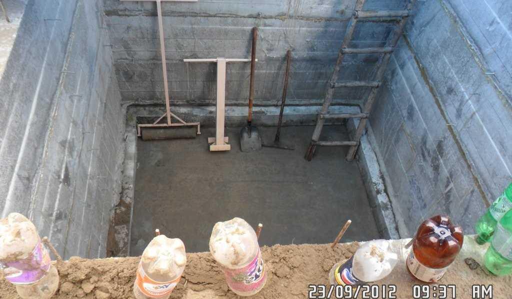 Изготовление подвала из бетона своими руками 73