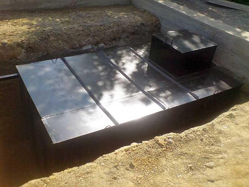 Металлический погреб своими руками 200