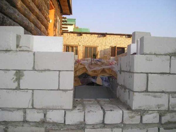 Пристройка делается из негорючего строительного материала