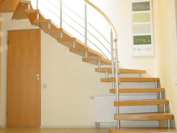 Видео поворотные лестницы на второй этаж