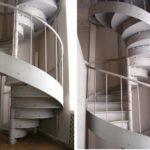 Оригинальной формы ступени в виде полукруга очень удобны при ходьбе