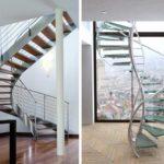 Винтовые лестницы могут иметь футуристический вид. Такие модели хорошо вписываются в стили минимализм, хай-тек и другие современные направления в оформлении помещений