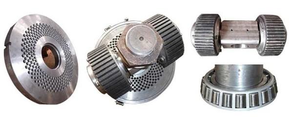 Устройство основного узла гранулятора с плоской матрицей