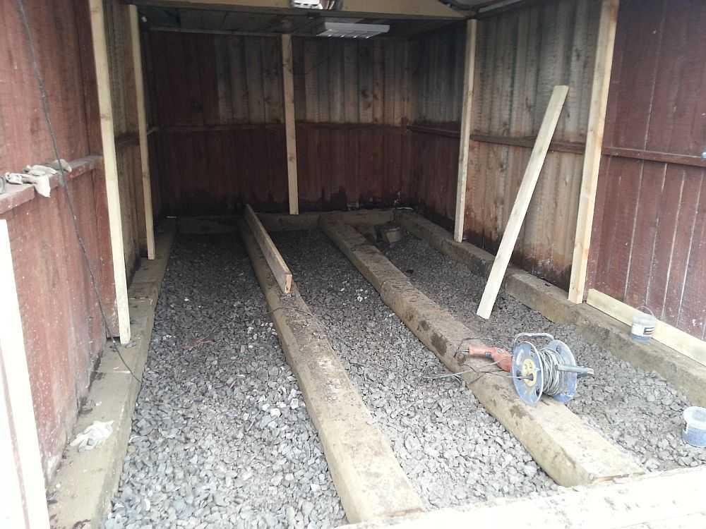 Как в гараже сделать деревянные полы своими руками
