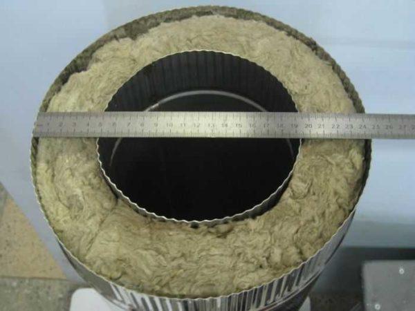 Монтаж сэндвич-дымохода начинается с определения диаметра