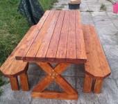Отдельно скамейки и столик для сада по тому же чертежу