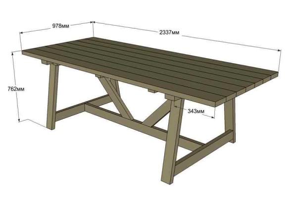 Устойчивый дачный стол
