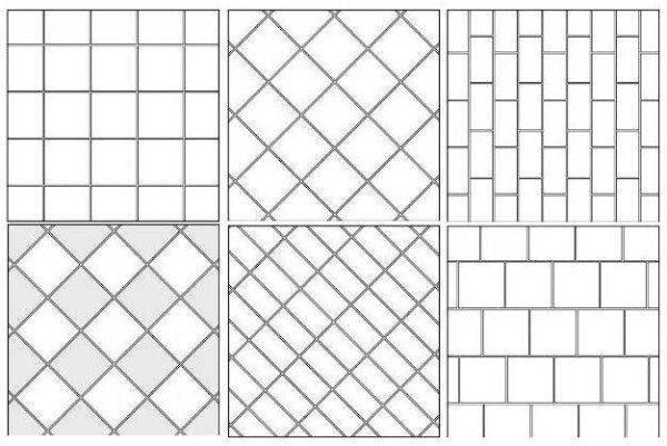 Простые схемы укладки керамогранита