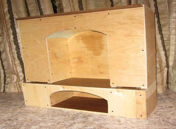 Портал для имитации камина можно сделать из любого листового стройматериала