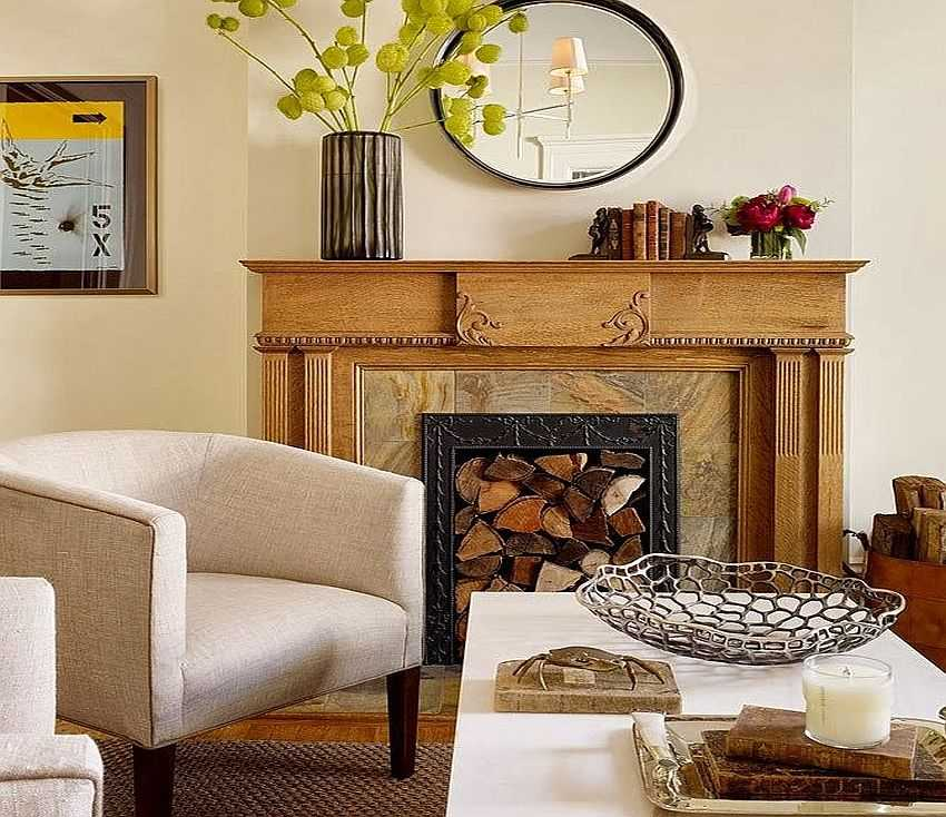 Декоративный камин своими руками в гостиной своими руками