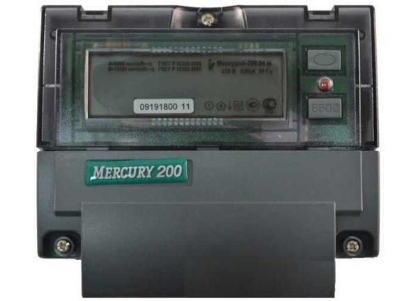 Счетчик Меркурий 200 для учета электроэнергии по двум (трем) тарифам