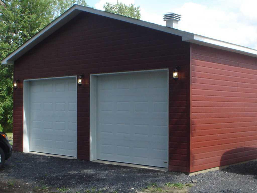 Проект гаража двухэтажного компактного