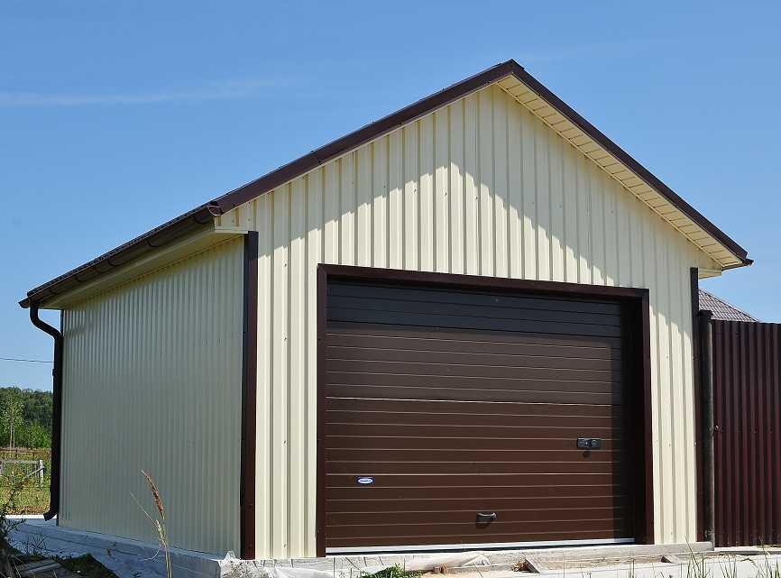 Видео крыша гаража профнастилом