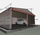 Размеры гаража на две машины