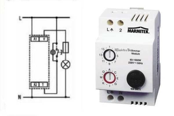Модульный диммер и схема его подключения