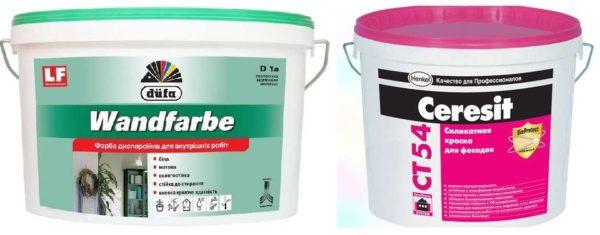 Минеральные и силикатные водоэмульсионные краски имеют разные характеристики и назначение