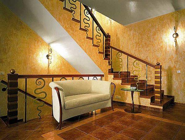Декоративная штукатурка - дивное украшение интерьера