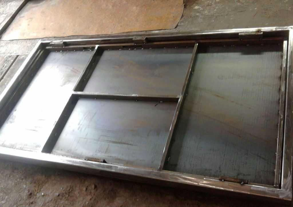 Металлические двери с профильной трубы своими руками