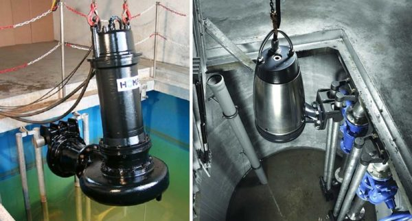 Варианты монтажа погружных насосов для канализации (септика, дренажных и накопительных колодцев)