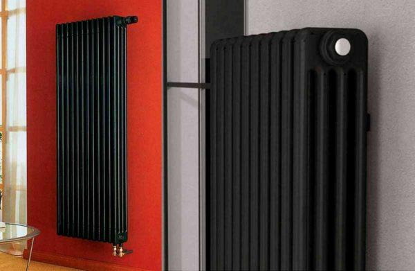 Это - трубчатые радиаторы. Они могут быть как высокими и узкими, так и низкими и широкими