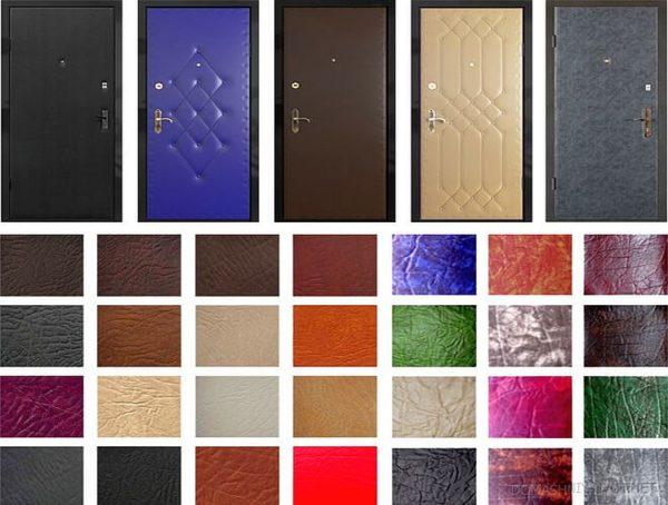 Обивка дверей кожзамом: несколько вариантов