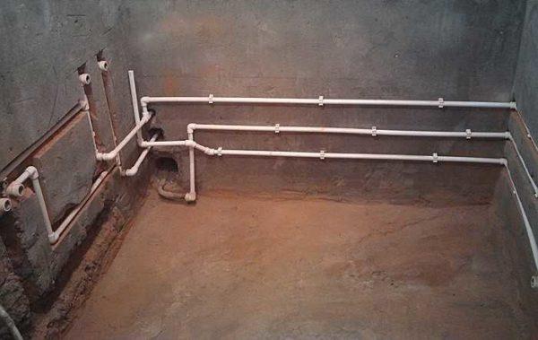 Пример водопровода из полипропилена