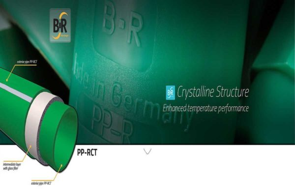 Полипропиленовые трубы Banninger (Барингер) имеют характерный зеленый цвет