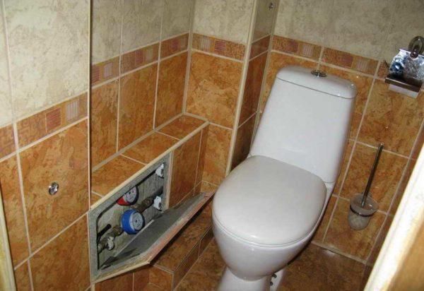 Как закрыть трубы в туалете: сделать короб из гипсокартона