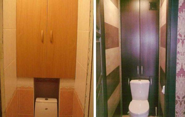 Закрыть трубы в туалете можно сделав хозшкаф