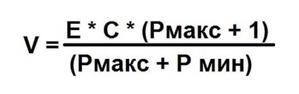 Формула расчете объема расширительного бака для отопления