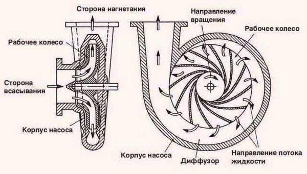Устройство самовсасываюшего центробежного насоса