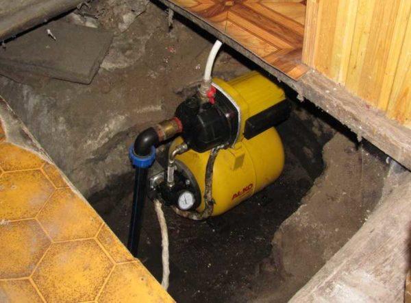 Установка насосной станции в подполе - может быть слишком слышен шум от ее работы